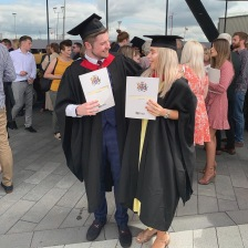 me and Samara celebrating graduating.