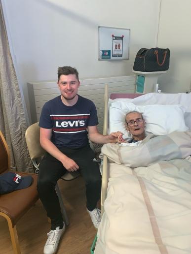 the final photo I had with my grandad