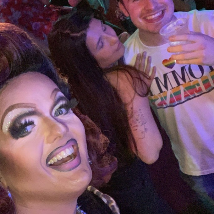Me and Jessica and Dixie Swallows at Newcastle Pride