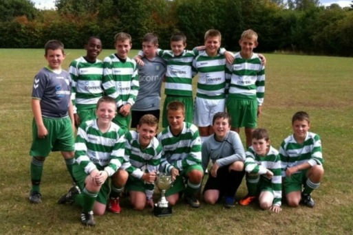 my team aged 13 after wining a cup