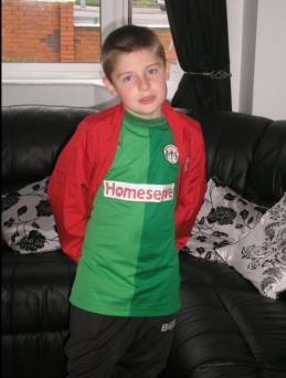 Me in my teams kit age 11