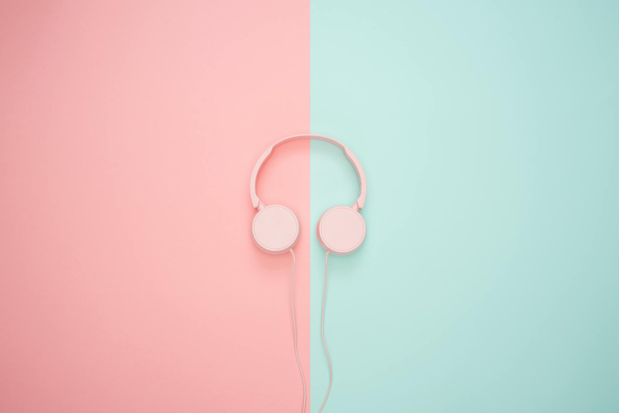 Pink/blue headphones